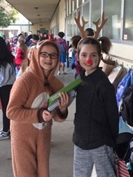 Students Dressed for Pajama Day